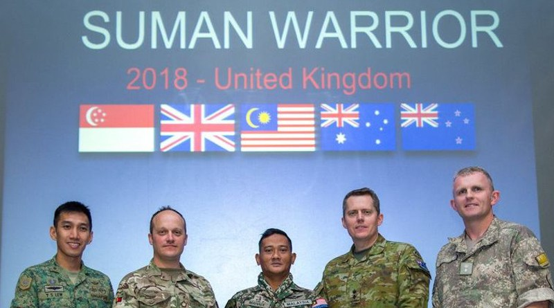 File photo of 2018 Suman Warrior Exercise of members of Five-Power Defense Arrangement. Photo Credit: Australia Army Facebook