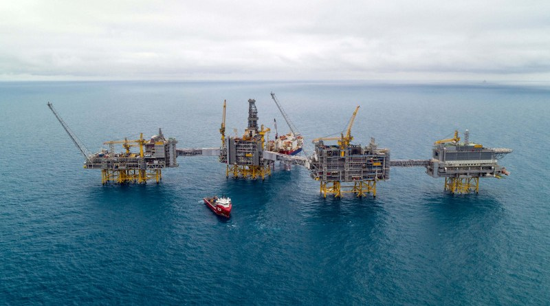 Johan Sverdrup Phase 1 oil field in North Sea. Photo Credit: Lundin Energy