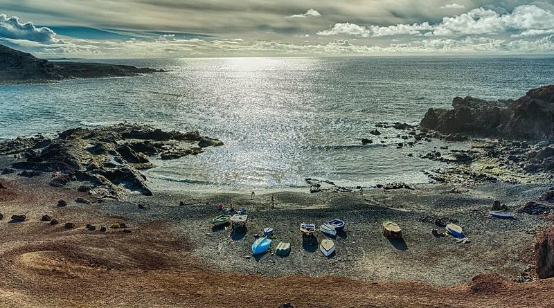 Canary Islands Nature Landscape Waters Sea Coast Lanzarote Spain