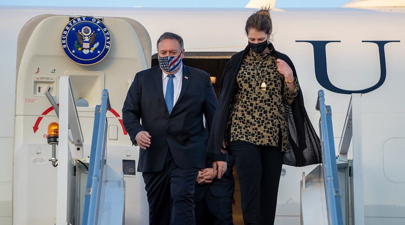 Secretary of State Michael R. Pompeo arrives in Abu Dhabi, United Arab Emirates on November 20, 2020. [State Department Photo by Ron Przysucha/ Public Domain]