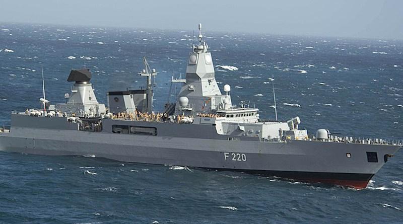File photo of Germany's Navy frigate Hamburg. U.S. Navy photo by Mass Communication Specialist Seaman Andrew Schneider