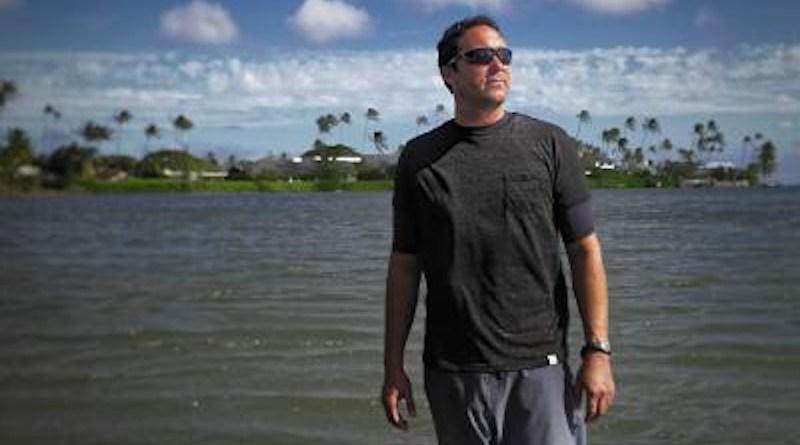 University of Hawai'i Research Affiliate Faculty Eric Attias at Wailupe Beach Park on O'ahu. CREDIT: University of Hawai'i