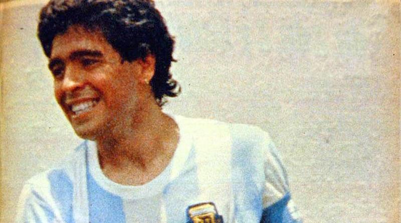 Diego Maradona celebrates his goal v. Italy at the 1986 FIFA World Cup in Mexico. Photo Credit: El Gráfico, Wikipedia Commons