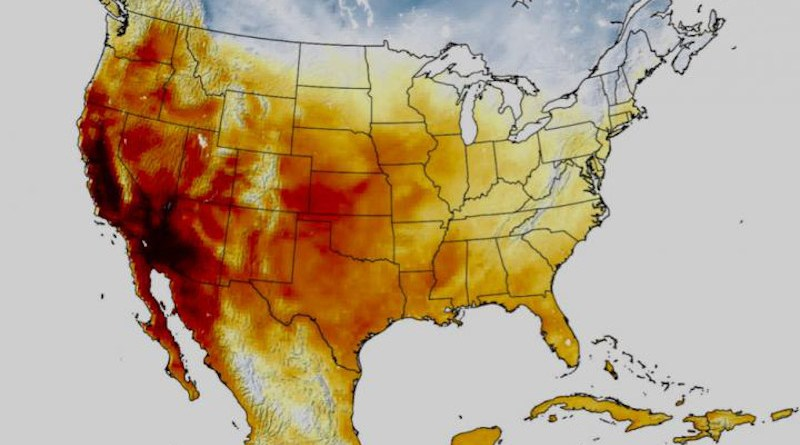 Extreme heat threatens the wellbeing of people all over the world, a new study from scientists at the University of Miami (UM) Rosenstiel School of Marine and Atmospheric Science found that some disadvantaged communities in California could be overlooked for state climate adaptation funds. CREDIT: NASA