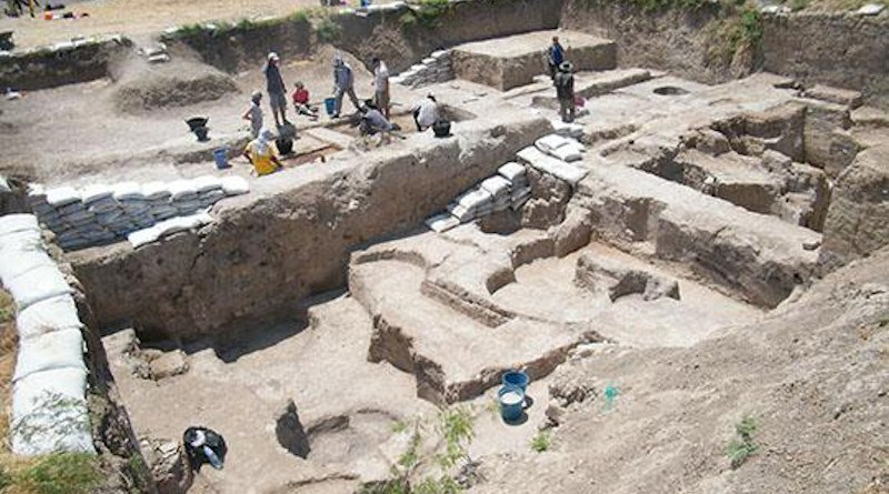 View of Early Bronze Age excavation (Field 1) at Tell Tayinat in Hatay, Turkey CREDIT: Tayinat Archaeological Project