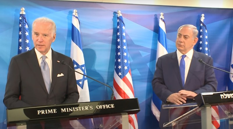 Vice President Joe Biden with Israel's Prime Minister Benjamin Netanyahu in March 2016. Photo Credit: US Embassy Video Screenshot