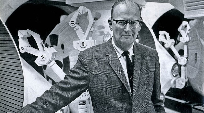 British science-fiction author Arthur C. Clarke in 1965. Photo Credit: ITU Pictures, Wikipedia Commons