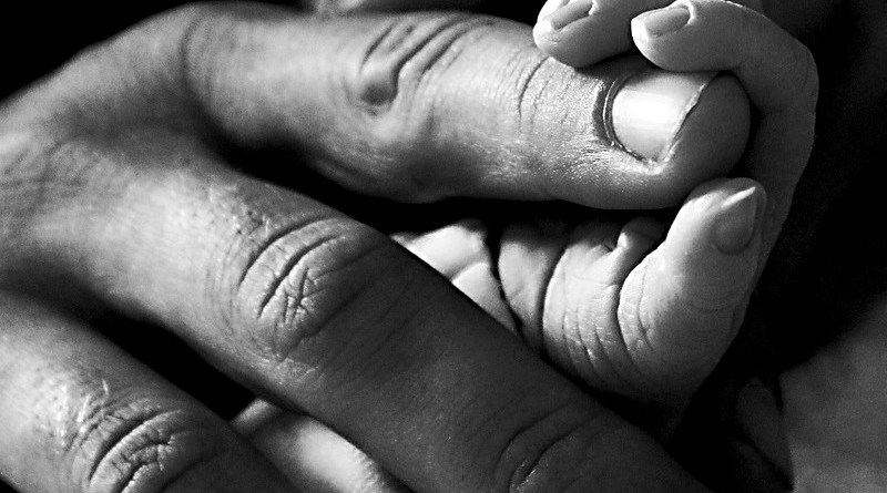 black african family hands