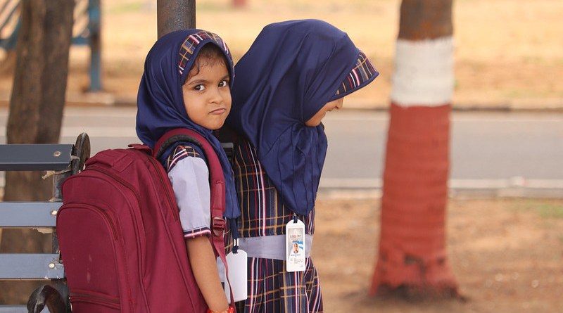 muslim schoolchildren school child girls headscarf headscarves