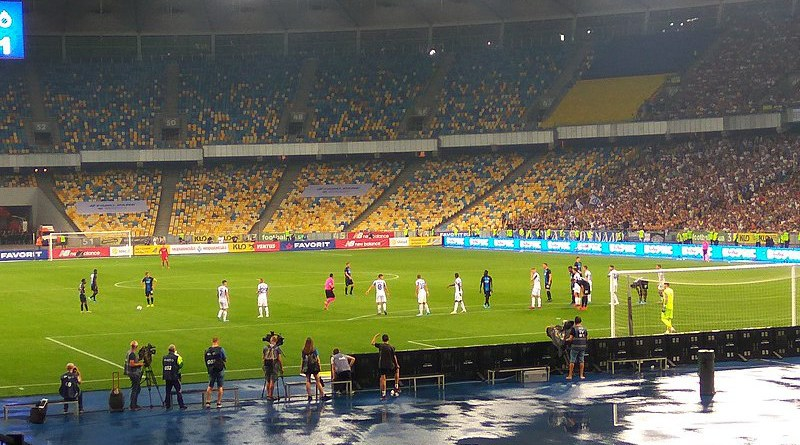 FC Dynamo Kyiv vs Club Brugge KV. Photo Credit: Visem, Wikimedia Commons