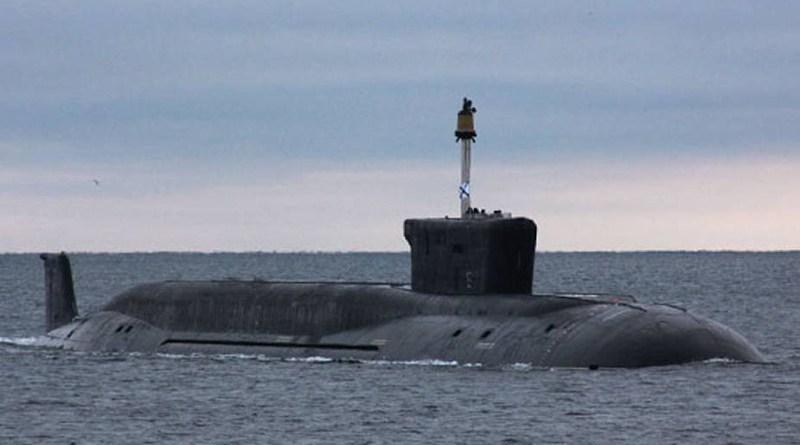File photo of Russia's Vladimir Monomakh submarine. Photo Credit: Mil.ru