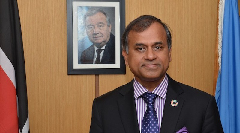 UN Resident Representative in Kenya, Siddharth Chatterjee, appointed as UN Resident Representative in China.