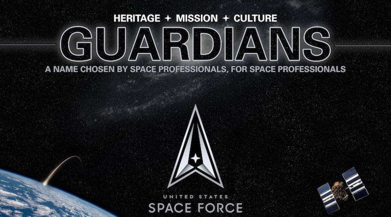 Logo announcing that Space Force personnel will be called Guardians. Photo Credit: Air Force Staff Sgt. James Richardson