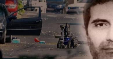 Montage of TATP bomb and Iranian regime diplomat Assadollah Assadi
