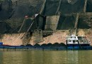 A coal shipment underway in China. Photo Credit: Rob Loftis, Wikipedia Commons