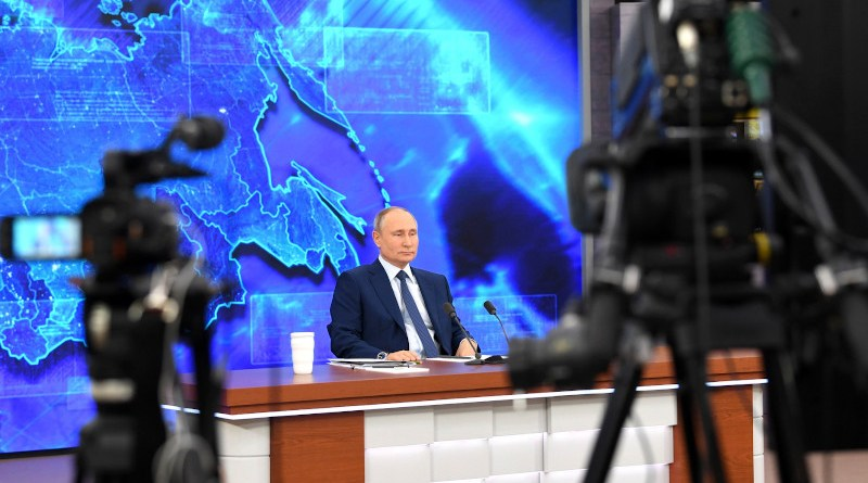 Russia's President Vladimir Putin holds annual news conference. Photo Credit: Kremlin.ru