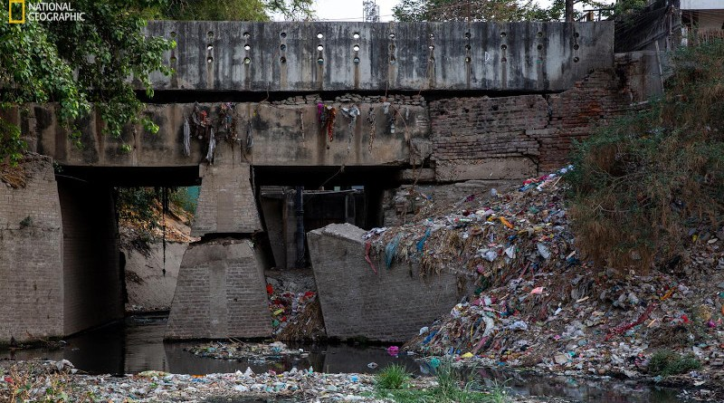 A dumpsite near the Ganges River in Patna, Bihar on June 4, 2019 CREDIT Photo by Sara Hylton, National Geographic. Taken on assignment for National Geographic's