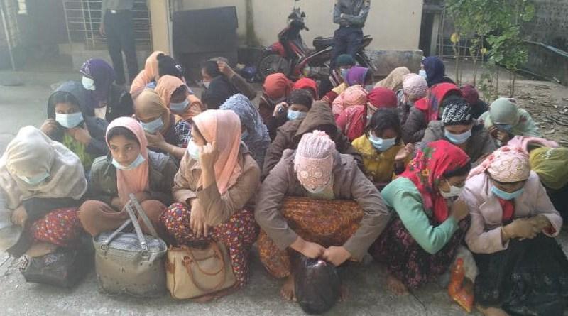 Muslims arrested in Shwepyithar Township, Yangon Region. Photo Credit: DMG