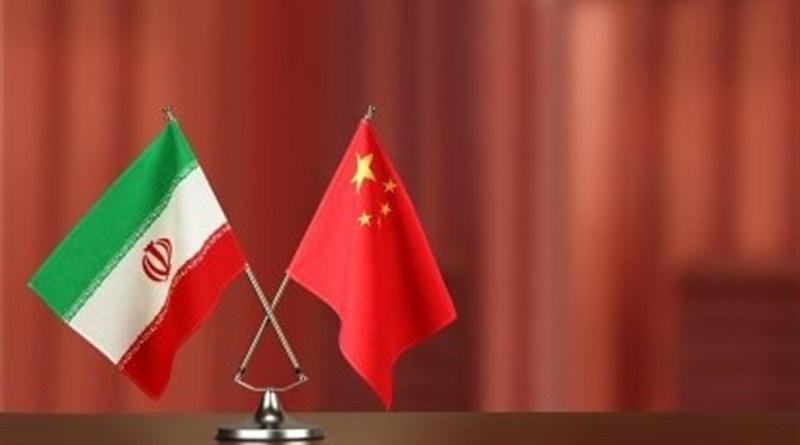 Flags of Iran and China. Photo Credit: Tasnim News Agency