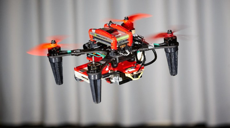 When one rotor fails, the drone begins to spin on itself like a ballerina. (Image: UZH) CREDIT UZH