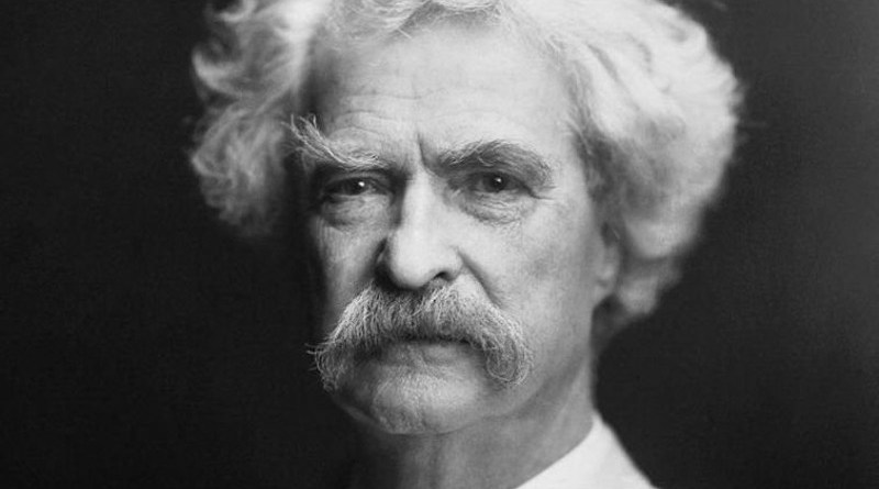 A portrait of the American writer Mark Twain taken by A. F. Bradley in New York, 1907.. Credit: Wikipedia Commons
