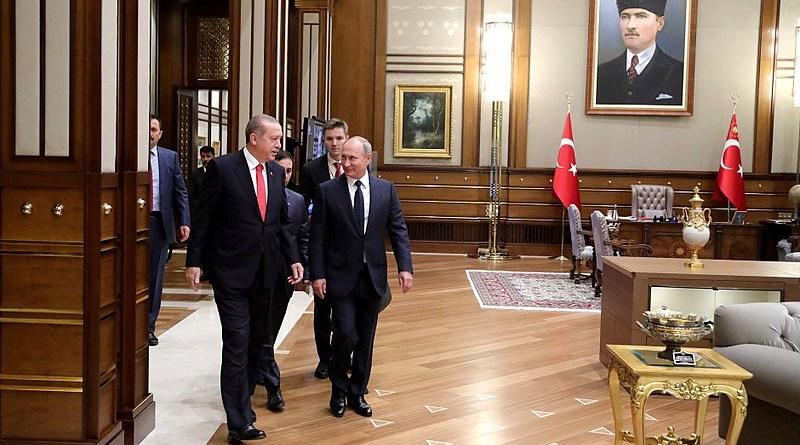 The working office of Turkey's President Recep Tayyip Erdogan, seen here with Russia's President Vladimir Putin. Photo Credit: Kremlin.ru