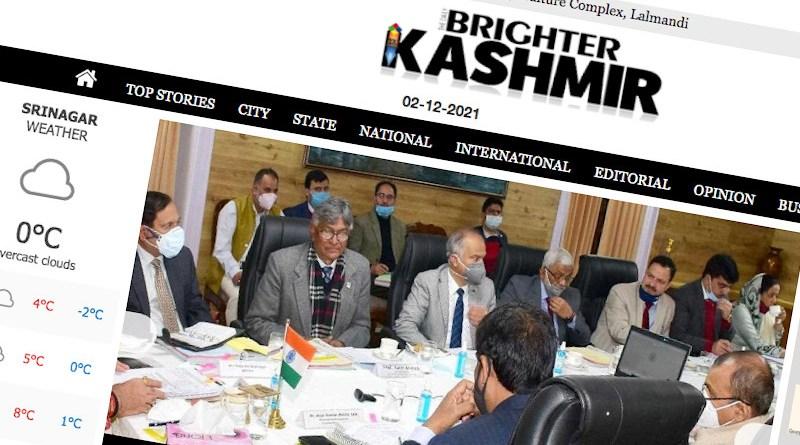 Screenshot of Brighter Kashmir website