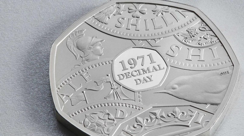 A new coin from the Royal Mint marks 50 years since Britain went decimal. CREDIT The Royal Mint