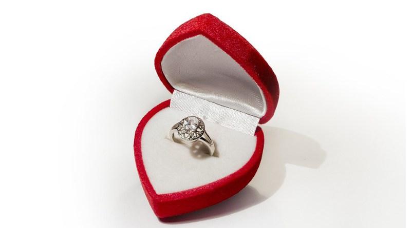 Ring Engagement Love Jewelry Box Valentine's Day