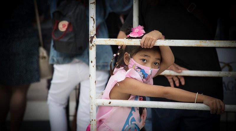 coronavirus covid-19 Girl Face Mask Kid Childhood Innocence Young Road