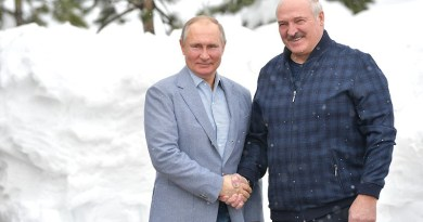 Russia's President Vladimir Putin with the President of Belarus Alexander Lukashenko. Photo Credit: Kremlin.ru