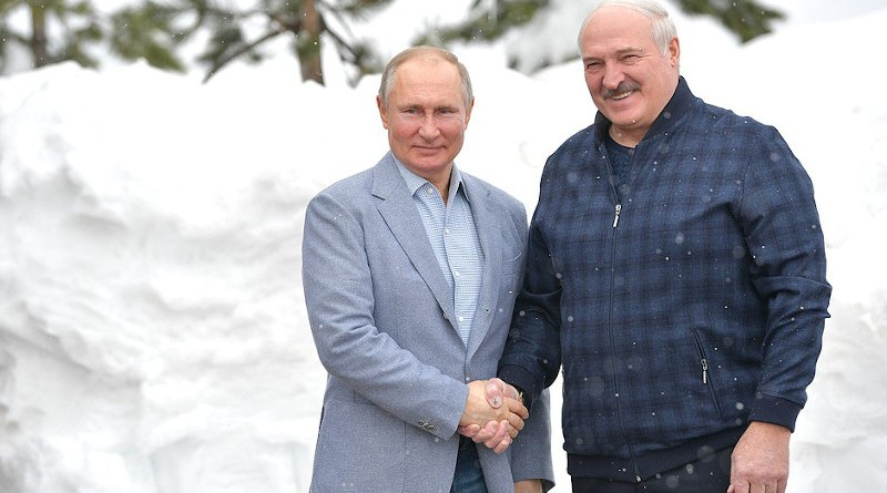 Russia's President Vladimir Putin with the President of Belarus Alexander Lukashenko. Photo Credit: Kremlin.ru