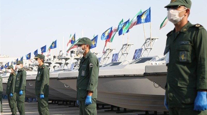 Iran's Islamic Revolution Guards Corps Navy takes delivery of 340 combat speedboats. Photo Credit: Tasnim News Agency