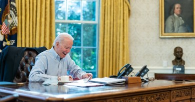 President Joe Biden in the Oval Office of the White House. (Official White House Photo by Adam Schultz)