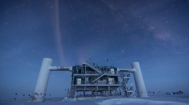 The Ice Cube telescope built in Antarctica. CREDIT Felipe Pedreros