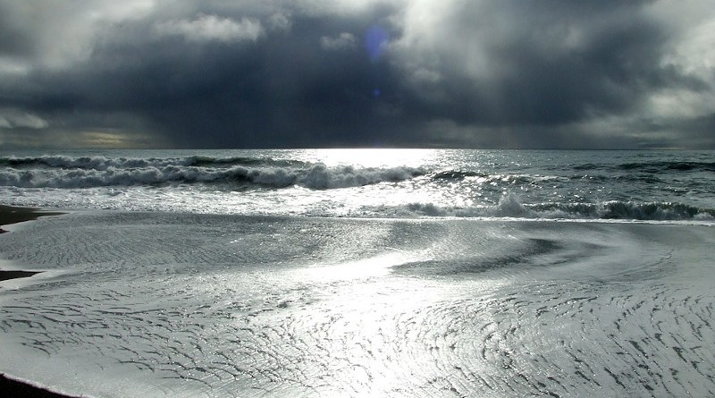 Storm Weather Alaska Beach Coast Coastline Ocean Clouds Sun