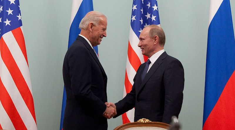 Now-U.S. President Joe Biden and Russian President Vladimir Putin in 2011 at the Russian White House, in Moscow. (Official White House Photo by David Lienemann)