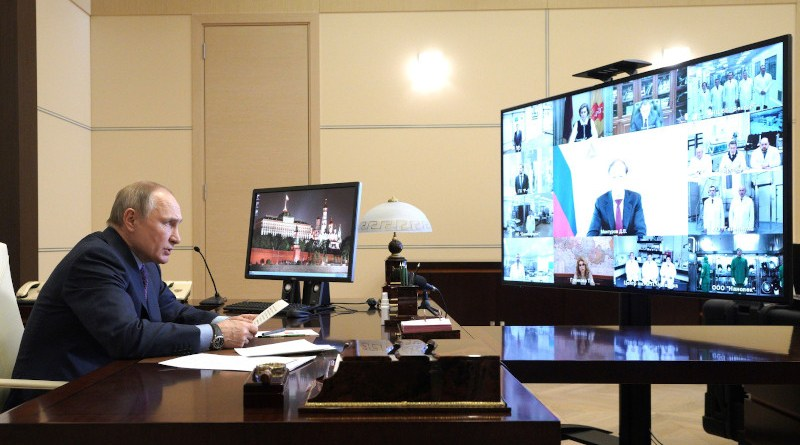 Russian President Vladimir Putin on Covid-19. Photo Credit: Kremlin.ru