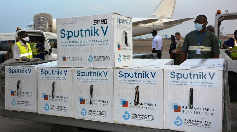 Russian Aluminium (RusAl) delivers to Guinea a shipment of the Sputnik V vaccine. Photo Credit: RusAl