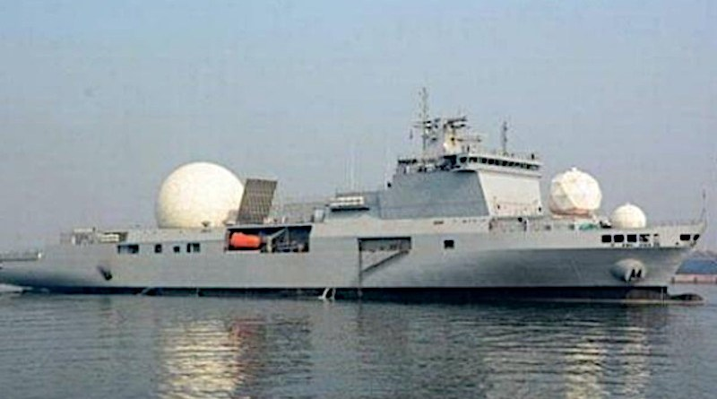 India's INS Dhruv VC-11184 nuclear missile tracking ship. Photo Credit: India Navy