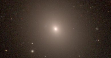 NGC 1453, a giant elliptical galaxy in the constellation Eridanus, was one of 63 galaxies used to calculate the expansion rate of the local universe. Last year, the MASSIVE survey team determined that the galaxy is located 166 million light years from Earth and has a black hole at its center with a mass nearly 3 billion times that of the sun. CREDIT Photo courtesy of the Carnegie-Irvine Galaxy Survey