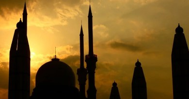 Buildings Mosque Sunset Silhouette