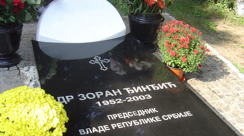Tomb of Zoran Djindjic on the Alley of Meritorious Citizens, New Cemetery in Belgrade, Serbia. Photo Credit: Matija, Wikipedia Commons