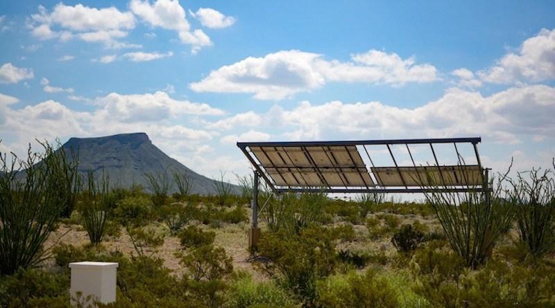Solar power in the desert. Terlingua, TX, USA. Credit: Gene Jeter | Unsplash.