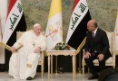 Pope Francis with Iraq's President Barham Salih. Photo Credit: Vatican