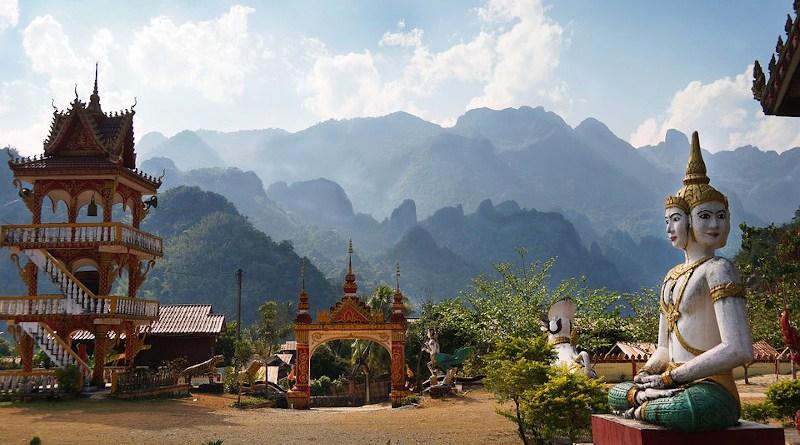 Laos Temple Mountains Buddhist Vang Vieng