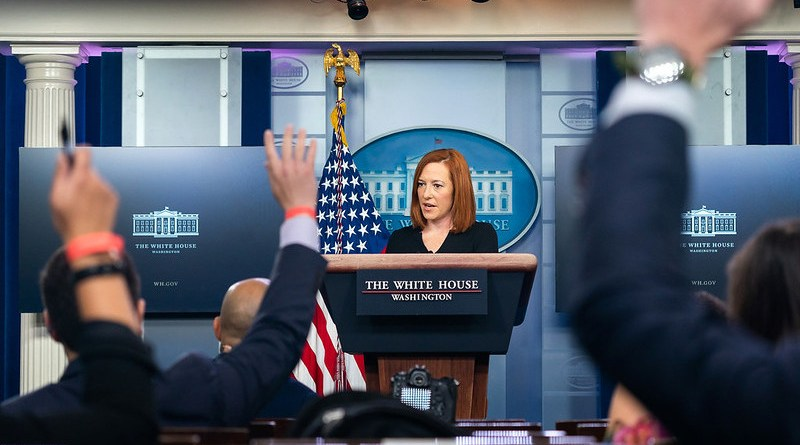 File photo of Press Secretary Jen Psaki . (Official White House Photo by Chandler West)