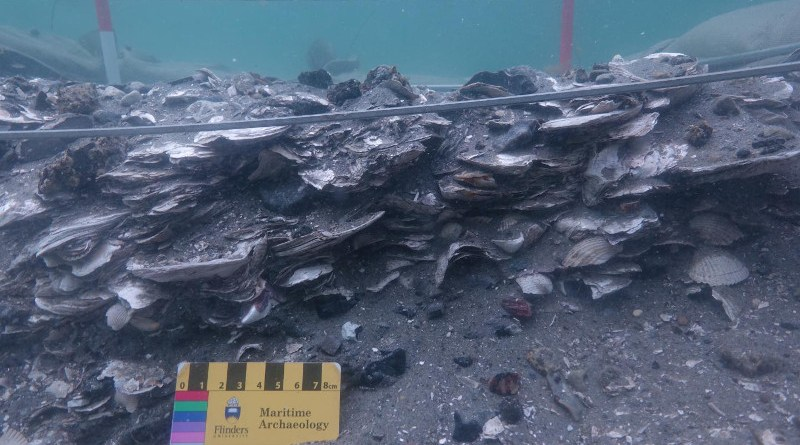 Excavation of shell middens off submerged landscape in Jutland in Denmark in 2018, showing that middens can reveal a coastline's hidden past. CREDIT Deep History Of Sea Country project.