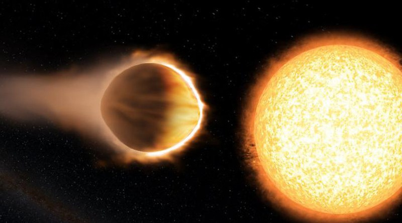 A study suggests that exoplanets close to their stars may actually retain a thick atmosphere full of water. Above, an artist's illustration of the exoplanet WASP-121b, which appears to have water in its atmosphere. CREDIT Engine House VFX, At-Bristol Science Centre, University of Exeter