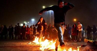 File photo of Chaharshanbe Soori celebration in Tehran, Iran. Photo Credit: Tasnim News Agency